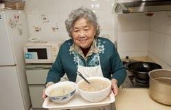 Gelukkige grootmoeder Royalty-vrije Stock Afbeelding