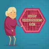 Gelukkige grootmoeder De gelukkige affiche van de grootoudersdag vector illustratie