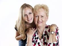 Gelukkige Grootmoeder en Grandaughter Royalty-vrije Stock Fotografie
