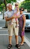 Gelukkige Grootouders met Kleinkind royalty-vrije stock foto