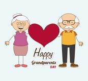 Gelukkige grootoudersdag royalty-vrije illustratie