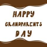 Gelukkige grootoudersdag, hand het getrokken van letters voorzien, vector Royalty-vrije Stock Afbeelding