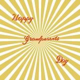 Gelukkige grootoudersdag, hand het getrokken van letters voorzien, vector Stock Foto