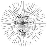 Gelukkige grootoudersdag, hand het getrokken van letters voorzien, vector Stock Foto's