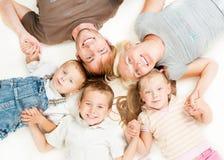 Gelukkige Grote Familie Stock Foto's