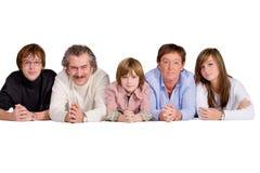Gelukkige grote familie Stock Afbeelding