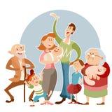 Gelukkige grote familie stock illustratie