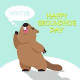Gelukkige Groundhog-Dag Royalty-vrije Stock Afbeelding