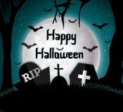 Gelukkige Halloween-achtergrond Stock Afbeelding