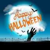 Gelukkige Halloween-Achtergrond Royalty-vrije Stock Foto's