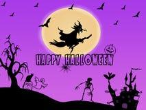 Gelukkige Halloween-achtergrond royalty-vrije illustratie
