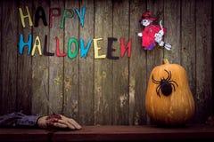 Gelukkige Halloween-achtergrond Stock Foto's