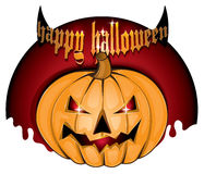 Gelukkige Halloween-achtergrond jpg Stock Foto