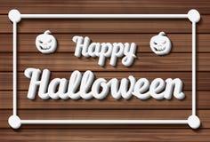 Gelukkige Halloween-achtergrond Vector illustratie Stock Afbeeldingen