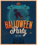 Gelukkige Halloween-Affiche. Royalty-vrije Stock Afbeeldingen