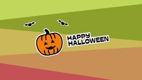 Gelukkige Halloween-animatie vector illustratie