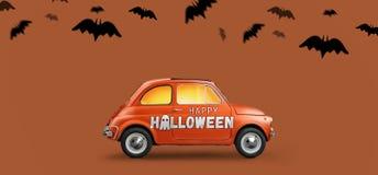 Gelukkige Halloween-auto stock afbeelding