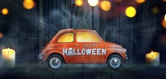 Gelukkige Halloween-auto royalty-vrije stock foto's
