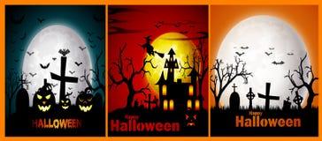 Gelukkige Halloween-bannerreeks Stock Afbeelding