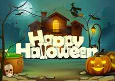 Gelukkige Halloween-behangachtergrond Royalty-vrije Stock Foto's