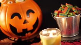 Gelukkige Halloween-daglengte stock videobeelden