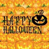 Gelukkige Halloween en pompoenenachtergrond Royalty-vrije Stock Fotografie