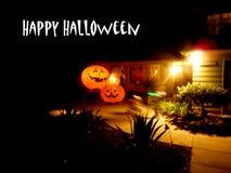 Gelukkige Halloween-Groeten van pompoenen royalty-vrije stock afbeelding