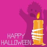 Gelukkige Halloween-Groetenkaart Stock Afbeelding