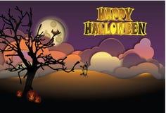 Gelukkige Halloween-Groetkaart Stock Foto