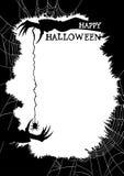 Gelukkige Halloween-groetkaart of partijvlieger Stock Fotografie