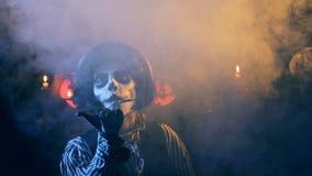 Gelukkige Halloween-hefboom-o-Lantaarn Gelukwens stock footage