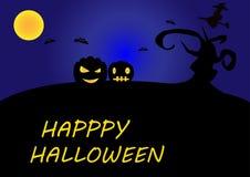 Gelukkige Halloween-illustrator als achtergrond Stock Foto
