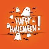 Gelukkige Halloween-kaart Stock Foto