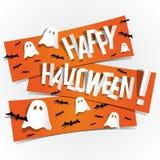 Gelukkige Halloween-kaart Royalty-vrije Stock Afbeeldingen