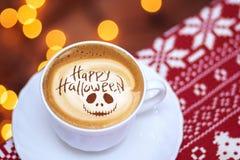 Gelukkige Halloween-koffie royalty-vrije stock fotografie