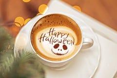 Gelukkige Halloween-koffie stock fotografie
