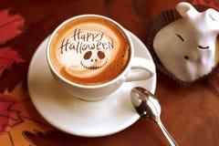Gelukkige Halloween-koffie royalty-vrije stock afbeelding