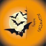 Gelukkige Halloween-Maan Royalty-vrije Stock Afbeelding
