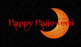 Gelukkige Halloween-ontwerpachtergrond Vector illustratie Stock Afbeelding