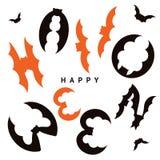 Gelukkige Halloween-ontwerpprentbriefkaar Stock Foto's