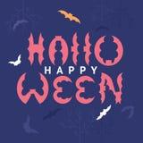 Gelukkige Halloween-ontwerpprentbriefkaar Stock Afbeelding