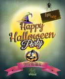 Gelukkige Halloween-partijaffiche Eps 10 Stock Foto's