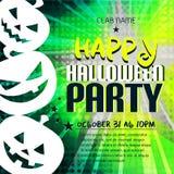 Gelukkige Halloween-partijaffiche met pompoenen en plaats voor tekst Royalty-vrije Stock Afbeelding