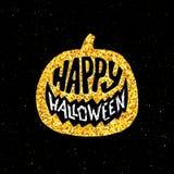 Gelukkige Halloween-Partijbanner met gouden typografie Royalty-vrije Stock Foto