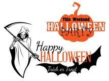 Gelukkige Halloween-partijuitnodiging Stock Afbeeldingen