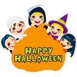 Gelukkige Halloween-Pompoenjonge geitjes royalty-vrije illustratie