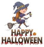 Gelukkige Halloween-samenstelling Stock Afbeeldingen