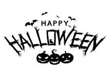 Gelukkige Halloween-tekstbanner Royalty-vrije Stock Fotografie
