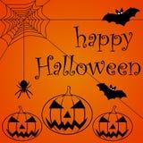 Gelukkige Halloween-tekstbanner royalty-vrije illustratie