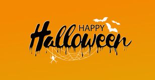 Gelukkige Halloween-Tekstbanner, vector Stock Fotografie
